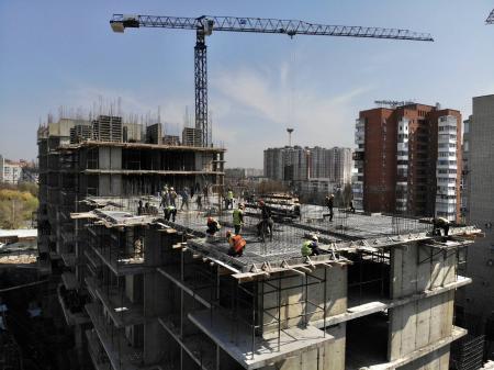 Отчет о строительстве ЖК «Айвазовский», апрель, 2020г.