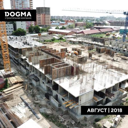 Отчет о строительстве ЖК «Рекорд», август, 2018г.