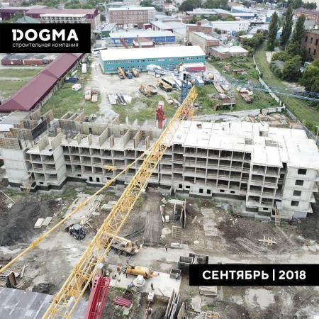 Отчет о строительстве ЖК «Рекорд», сентябрь, 2018г.