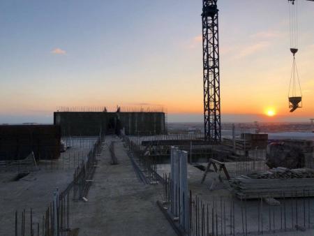 Отчет о строительстве ЖК «Мега Победа», февраль, 2020г.